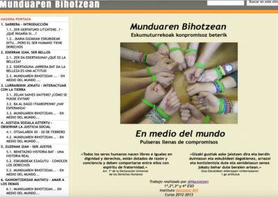 MUNDUAREN BIHOTZEAN, EN MEDIO DEL MUNDO