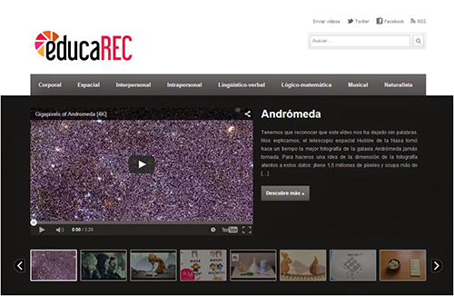 EDUCAREC. WEB DE VIDEOS EDUCATIVOS CLASIFICADOR POR INTELIGENCIAS MÚLTIPLES #cineenclase