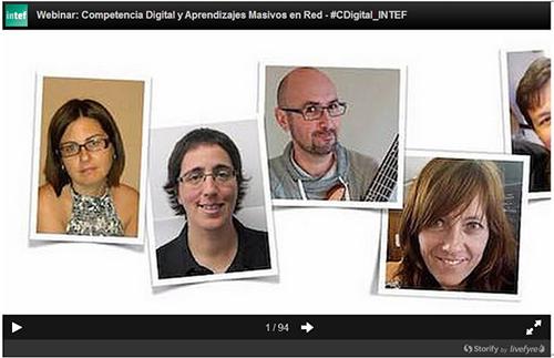 PARTICIPAMOS EN WEBINAR COMPETENCIA DIGITAL Y APRENDIZAJES MASIVOS EN RED #CDigital_INTEF