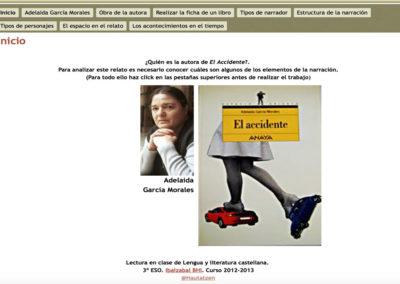 LA NARRACIÓN EN EL ACCIDENTE, DE ADELAIDA GARCÍA MORALES