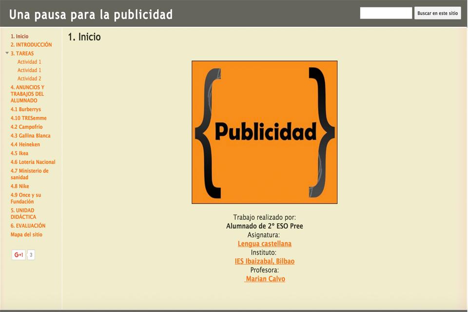UNA PAUSA PARA LA PUBLICIDAD