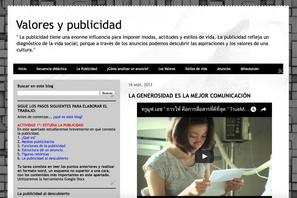 VALORES Y PUBLICIDAD