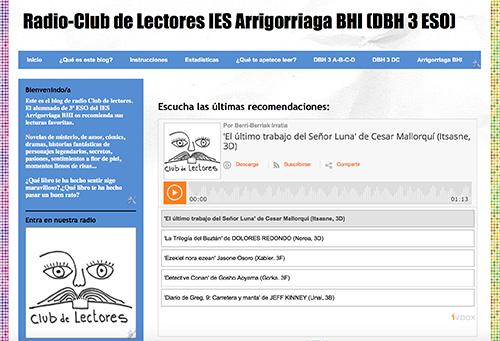 PLAN LECTOR PARA 3º ESO. RADIO CLUB DE LECTORES