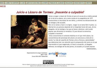 JUICIO A LÁZARO DE TORMES