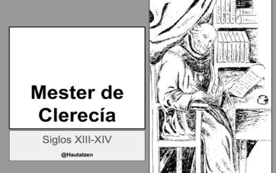 El MESTER DE CLERECÍA. RECURSOS