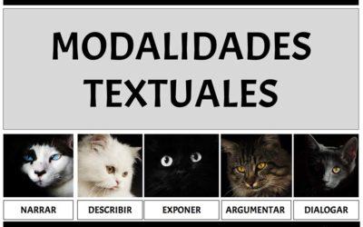 MODALIDADES TEXTUALES. ESQUEMA Y RECURSOS