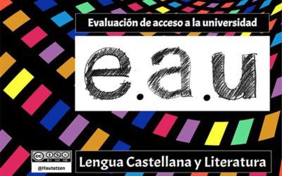 ESTRUCTURA DE LA EAU EN LENGUA Y LITERATURA CASTELLANA