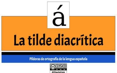 RECURSOS DE ORTOGRAFÍA: LA TILDE DIACRÍTICA.