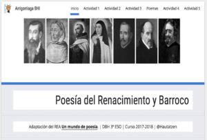 Poesía del Renacimiento y Barroco