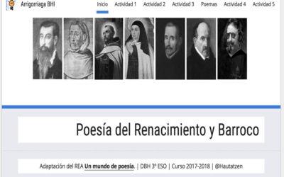 POESÍA DEL RENACIMIENTO Y DEL BARROCO