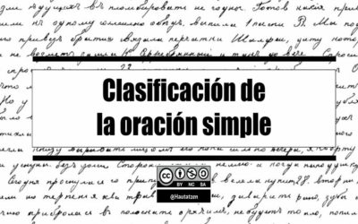 CLASIFICACIÓN DE LA ORACIÓN SIMPLE